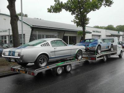 Mustang en Corvette