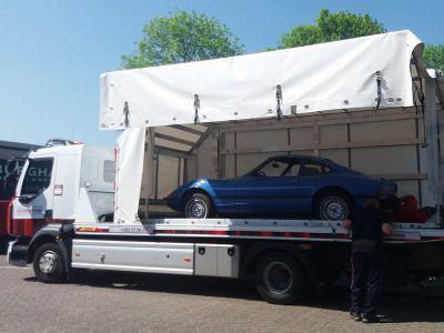 Opel GT blauw
