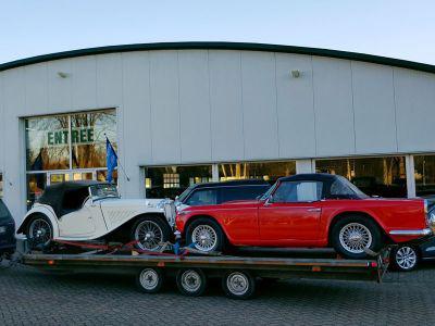 Triumph TR4 en MG TC naar Zweden