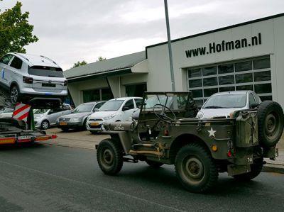 Willy's Jeep op weg naar Spanje