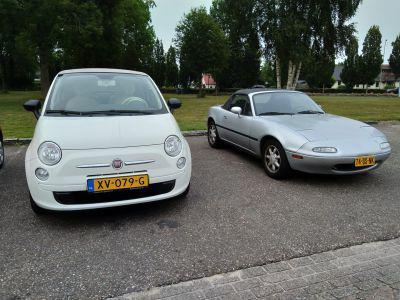 Inruil van Miata op Fiat, blijkt de Fiat veel groter