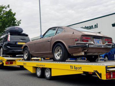 Datsun op weg naar Belgie